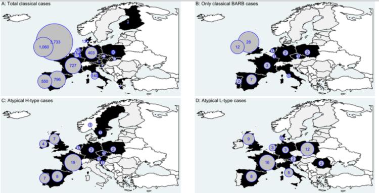 Encéphalopathies spongiformes transmissibles animales. Bilan 2016 en Europe
