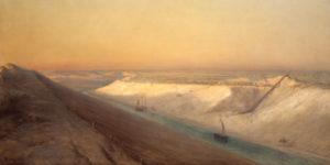 François-Pierre Bernard Barry, Le Chantier n°5 : vue du Canal de Suez, 1863, © Souvenir de Ferdinand de Lesseps et du Canal de Suez / Lebas Photographie Paris