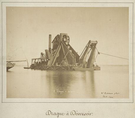 Hippolyte Arnoux et Zangaki frères, Drague à déversoir 1869 - 1885 © Archives nationales du monde du travail (Roubaix)