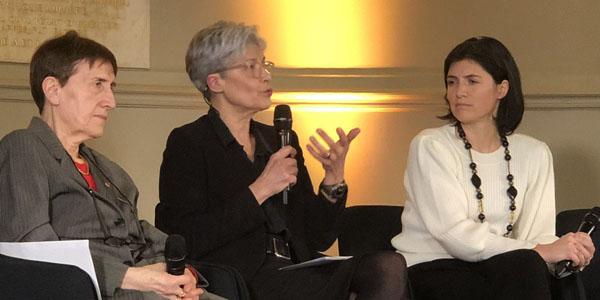"""C. Hermann, C. Haigneré, C. Herdemann (Colloque """"Regards de femmes sur la science, l'innovation et l'industrie"""", 25 mars 2019)"""