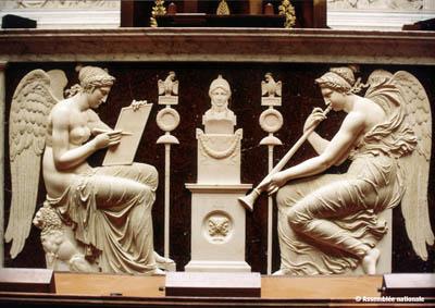 Bas-relief de la tribune de l'orateur, © Assemblée nationale