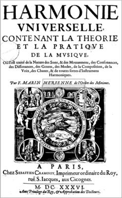 Harmonie universelle (Mersenne,  1637)